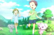 EP849 Ryuuji y Hajime cuando eran niños