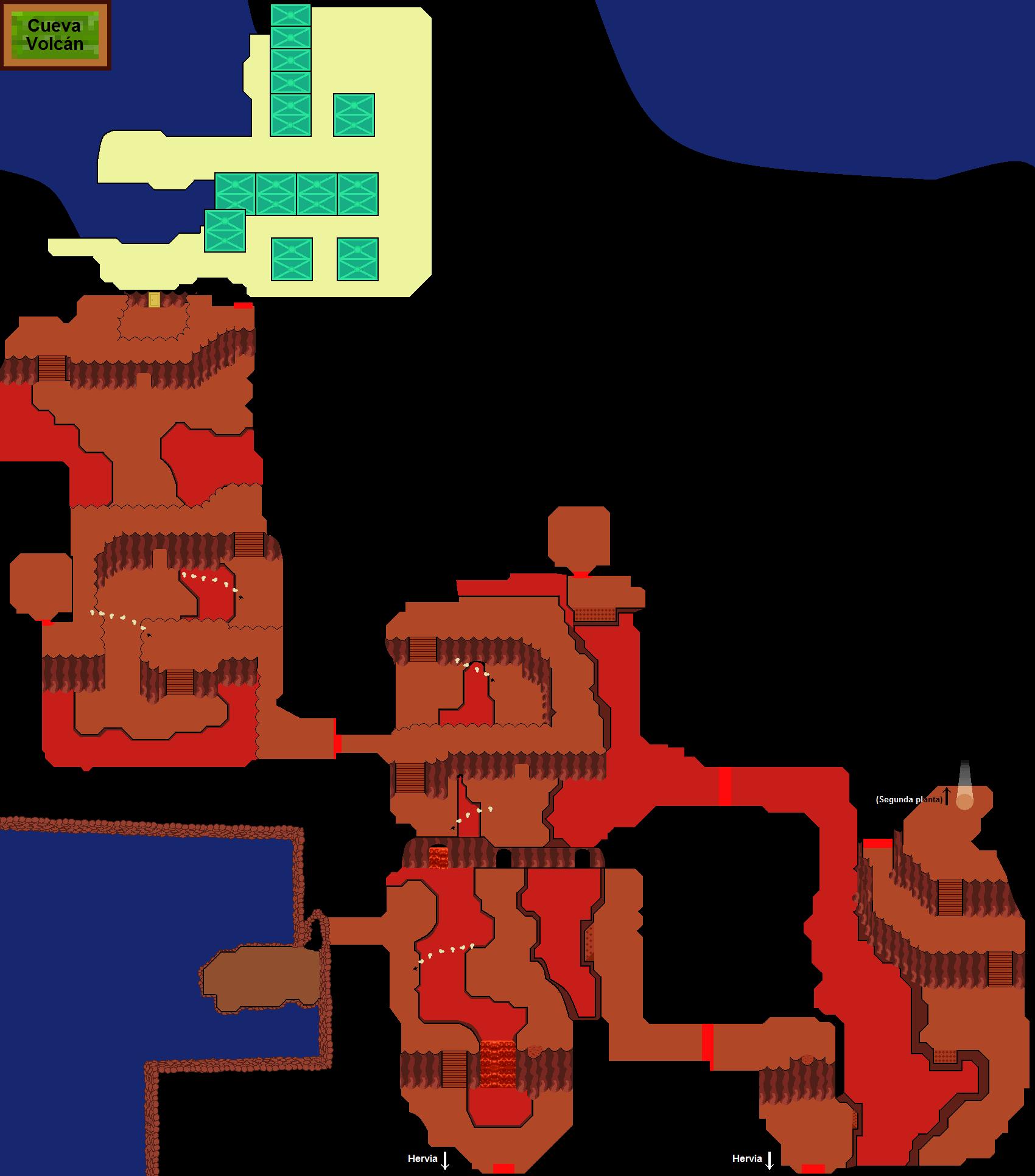Plano de Cueva Volcán (primera planta)