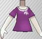 Camiseta de poké ball morado