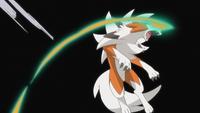 EP1020 Lycanroc de Ash usando Contraataque