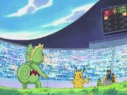 EP273 Kecleon de Harrison vs Pikachu de Ash