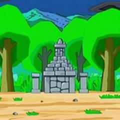 ...la piedra fue encerrada bajo una maldición en un monumento sagrado.