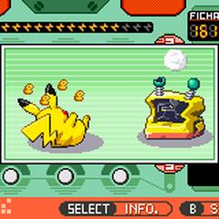 Pikachu al estropear la máquina.