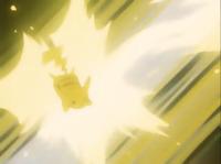 EP127 Pikachu usando Rayo