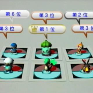 Varios Pokémon iniciales que aparecen gracias a los marcadores de realidad aumentada.