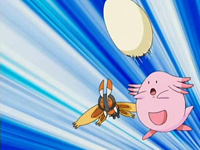 EP499 Chansey utilizando bomba huevo