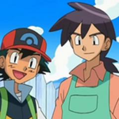 Ash junto a Reggie.
