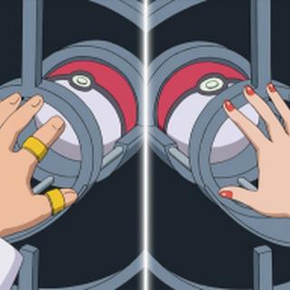 Proceso del intercambio pokémon: Los entrenadores dejan al Pokémon que quieren intercambiar...