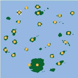 Isla Pomelo mapa