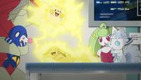EP1022 Pikachu usando rayo