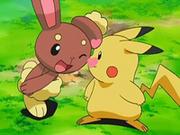 EP545 Buneary y Pikachu