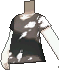Camiseta desteñida negra
