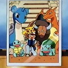 Foto de Ash con sus Pokémon.