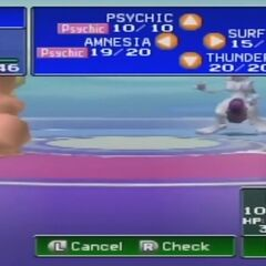 Combate contra Mewtwo.
