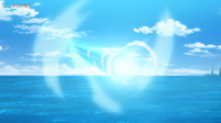 EP1109 Mew transformado en Lugia usando Hidrobomba