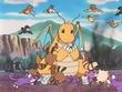 EP255 Pokémon rodeando a Dragonite