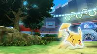 EP930 Pikachu de Ash usando ataque rápido