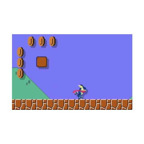 Sprite de Greninja en <i>Super Mario Maker</i>