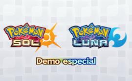 Carátula Demo especial de Pokémon Sol y Pokémon Luna