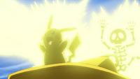 EP1003 Pikachu usando rayo