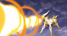 P12 Arceus usando lanzallamas