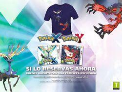 Camiseta de Xerneas e Yveltal al reservar Pokémon XY