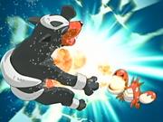 EP453 Houndour de Cassidy siendo atacado por Corphish de Ash
