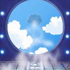 ...el cual expulsa hacia el cielo...