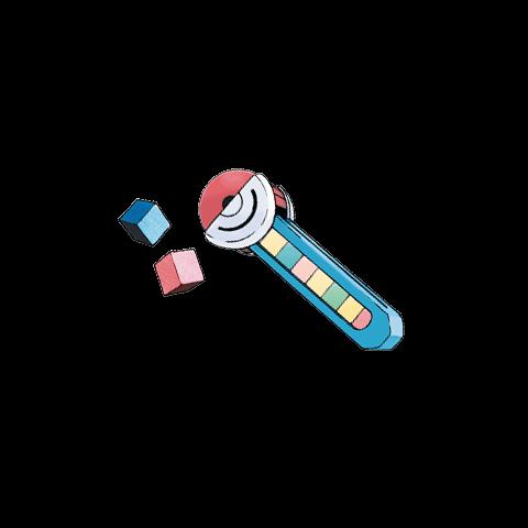 Ilustración del <b>tubo pokécubos</b> en <a href=