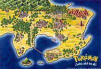 Mapa de Kanto en la primera generación