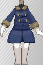 Abrigo largo azul oscuro