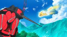 EP1004 Pikachu usando ataque rápido