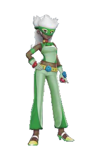 Ilustración de Flora en Pokémon Battle Revolution