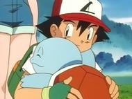 EP012 Ash y Squirtle abrazándose