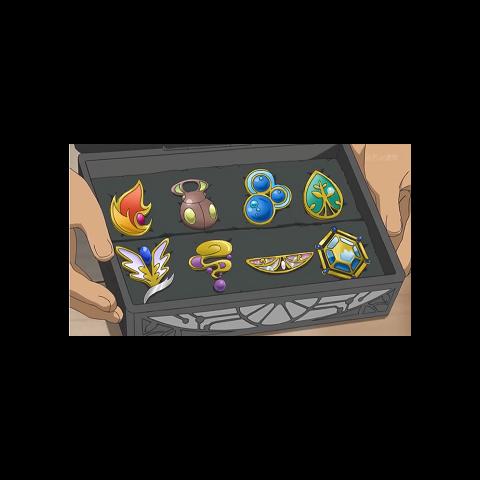 Medallas de Sawyer/Sabino donde revela haber ganado la medalla Iceberg cuando le muestra su estuche a Ash.