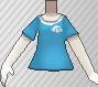 Camiseta de poké ball azul claro