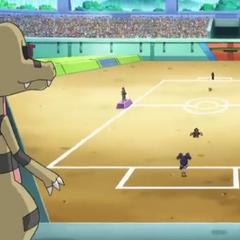 Krokorok siguiendo a Ash.
