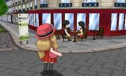 Entrenadora en una cafetería de ciudad Luminalia