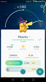 Pikachu gorro de bruja