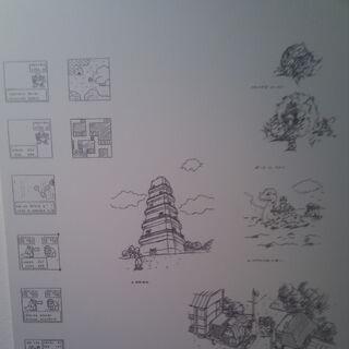 Primeros Arts de Pokémon diseñados por Ken Sugimori en el que destacan el diseño diferente de algunos Pokémon.