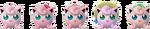 Paleta de colores de Jigglypuff SSBB