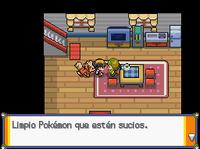 Dalia hablando de limpiar Pokémon HG