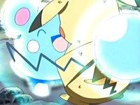 EP411 azurill usando alivio en Pikachu