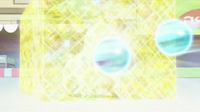 EP612 Chikorita usando pantalla de luz