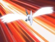 EE02 Skarmory usando ala de acero
