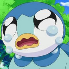 Piplup llorando por ser rechazado por la <a href=