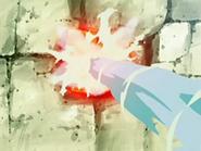 EP526 Usando pistola agua con la piedra