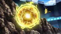 EP933 Pikachu usando bola voltio