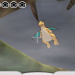 Fotografía de un Dragonite.