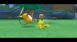 PokéPark 2 entrenamiento con Raichu